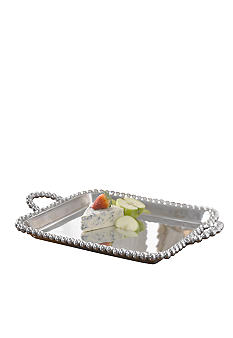Biltmore For Your Home Big Bead Handle Serving Tray