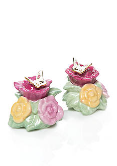 Royal Albert Old Country Rose Butterfly Salt & Pepper Set