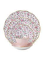 New Country Rose Vintage Confetti 5pc Place Setting