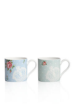 Royal Albert New Country Rose Vintage Teaware Set of 2 Mugs