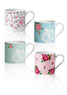 Royal Albert New Country Rose Modern Mug Set of 4