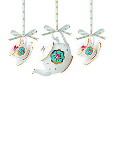 Royal Albert New Country Rose Polka Blue Set of 3 Ornament