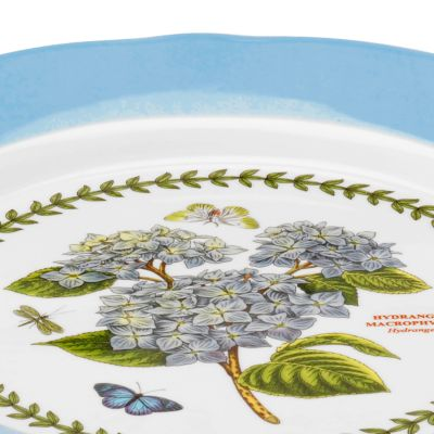 Portmeirion Dishes: Pastel Blue Portmeirion Botanic Garden Terrace Scalloped Edge Small Footed Cake Plate Pastel Pink