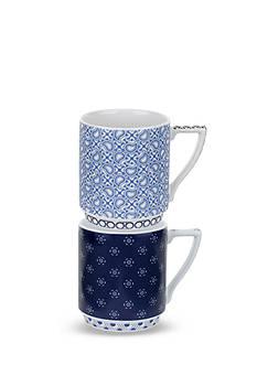 Portmeirion Balfour Set of 2 Stacking Mugs