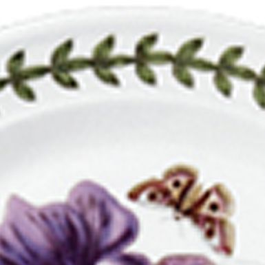 Portmeirion Dishes: White Portmeirion Botanic Garden Saucer 6.in.