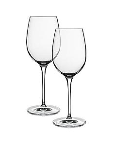 Luigi Bormioli Set of 2 Soft White Wine Glasses