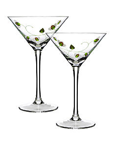 Luigi Bormioli Set of 2 Green Cocktails - Online Only