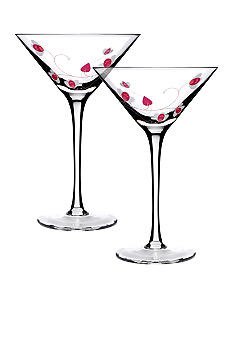 Luigi Bormioli Set of 2 Pink Cocktails - Online Only