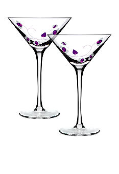 Luigi Bormioli Set of 2 Purple Cocktail Glasses - Online Only