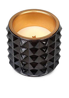 WoodWick Fireside Studded Glass Candle