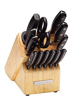 KitchenAid Triple Riveted 14 Piece Cutlery Set with Steak Block