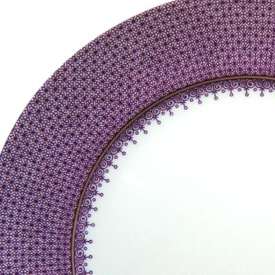 Decorative Dinnerware: Prple/Wht Mottahedeh BLUE LACE SERVICE PL