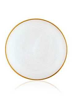 VIETRI Alabaster White with Gold Edge Salad Plate