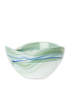 VIETRI Alabaster Aquamarine Glass Cereal Bowl
