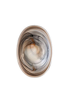 Vietri Alabaster Glass Taupe Small Oval Bowl