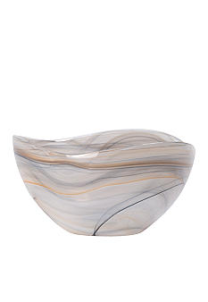 Vietri Alabaster Glass Deep Serving Bowl