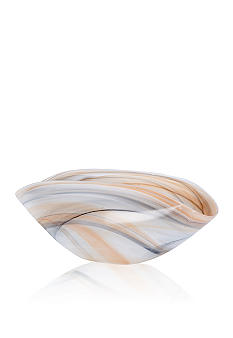 Vietri Alabaster Glass Oval Envelope Bowl