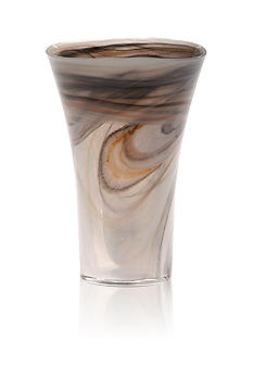 Vietri Alabaster Glass Taupe Small Vase