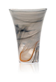 Alabaster Glass Taupe Taupe Large Vase