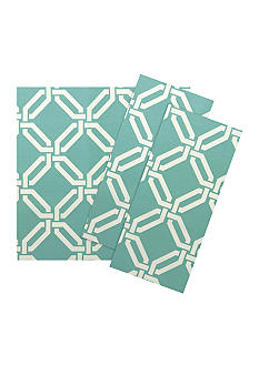Vietri Aqua/Cream Greek Key Napkin