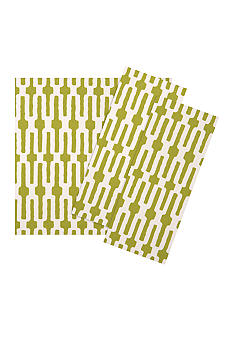 Vietri Lime Green Links Napkin