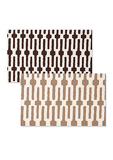 VIETRI Slate Link/Taupe Link Placemat
