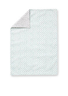 VIETRI Gray and Aqua Abstract Dot Placemat