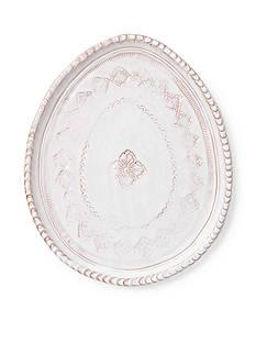 VIETRI Bellezza Spring White Oval Salad Plate