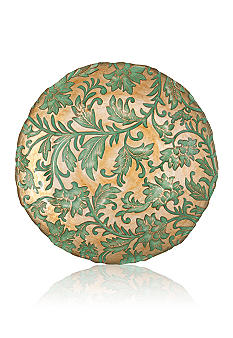 Vietri Damask Glass Aqua Salad Plate