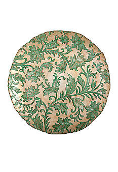 Vietri Damask Glass Aqua Large Round Platter