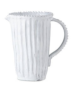 VIETRI Incanto White Stripe Pitcher