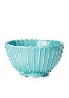 VIETRI ncanto Aqua Stripe Extra-Small Serving Bowl