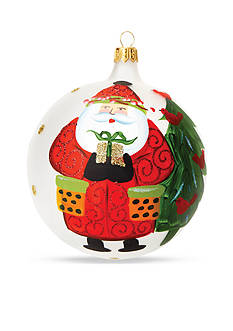 VIETRI Old St. Nick Present Ornament