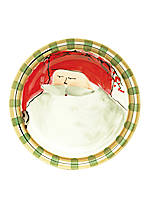 Old St. Nick Red Hat Santa Dinner Plate 10.75-in.