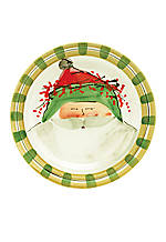 Old St. Nick Santa Green Hat Dinner Plate 10.75-in.