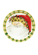 Old St. Nick Santa Animal Hat Dinner Plate 10.75-in.