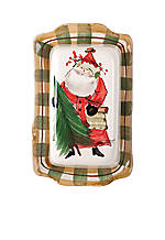 Old St. Nick Santa Covered Butter Dish 8.5-in. x 5-in. x 3-in.