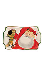 Old St. Nick Santa Small Rectangular Plate 8-in. x  5-in.