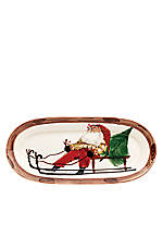 Old St. Nick Santa Small Oval Platter 16.5-in. x 7.5-in.