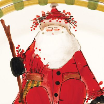 Christmas Table Decorations: Assorted VIETRI Old St. Nick Teapot