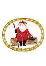 Old St. Nick Santa Large Oval Platter 20-in. x 16-in.