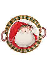 Old St. Nick Santa Round Handled Platter 14-in.