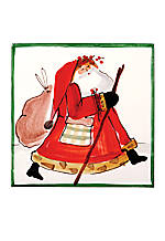 Old St. Nick Santa Walking Trivet  8-in.