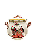 Old St. Nick Santa Biscotti Jar 11-in. x 10-in.