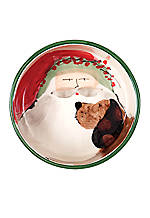 Old St. Nick Santa Dog Bowl 7.25-in. x 3-in.