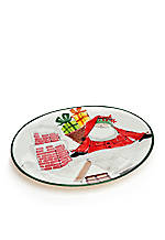 Old St. Nick Santa Chimney Platter 15.5-in.