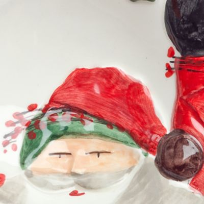 Christmas Table Decorations: Multi VIETRI Old St. Nick Teapot