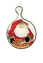 Old St. Nick Santa Cheese Board 17.75-in. x 12.5-in. NEW!