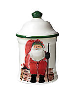 Old St. Nick Santa Small Canister 7-in. H. NEW!