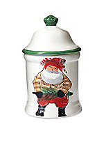 Old St. Nick Santa Medium Canister 8.25-in. H. NEW!